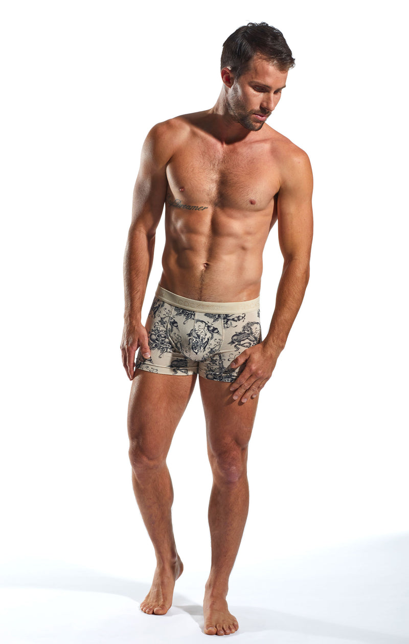 Cocksox CX12INK Underwear Boxer in Inked full body image