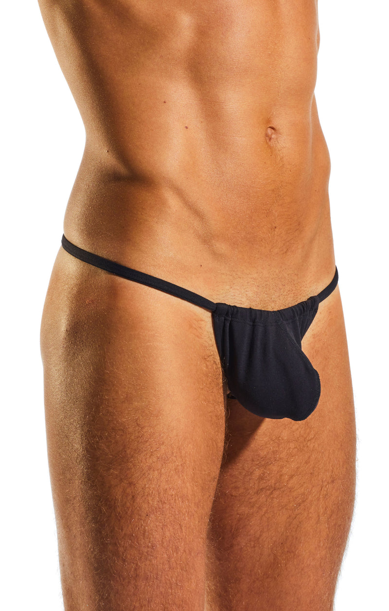 Cocksox CX14 Underwear Slingshot in Jet Black side body image