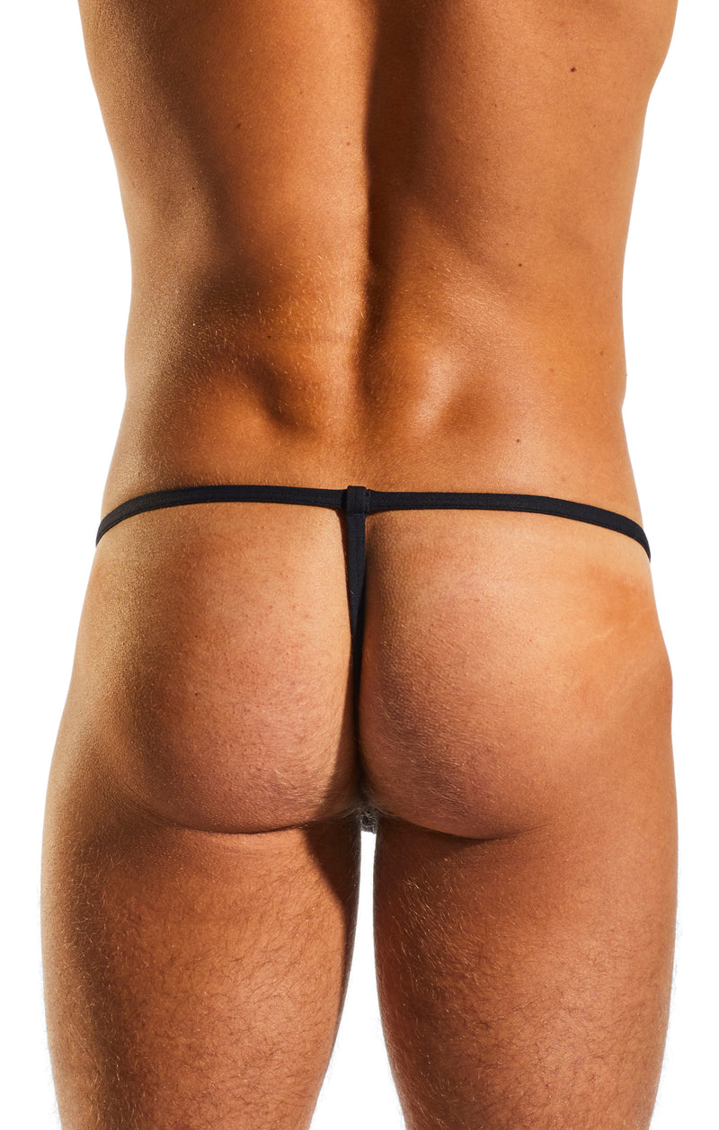 Cocksox CX14 Underwear Slingshot in Jet Black back body image