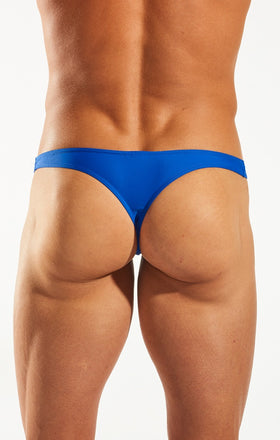 Cocksox CX22 Swimwear Thong in Galactic Blue back body image