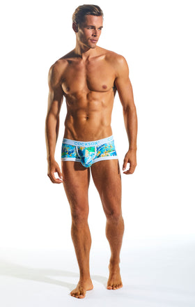 Cocksox CX68CR Underwear Trunk in Paradise Palms full body image