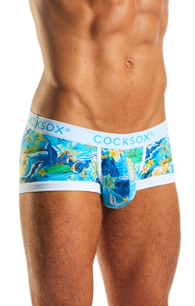 Cocksox CX68CR Underwear Trunk in Paradise Palms side body image