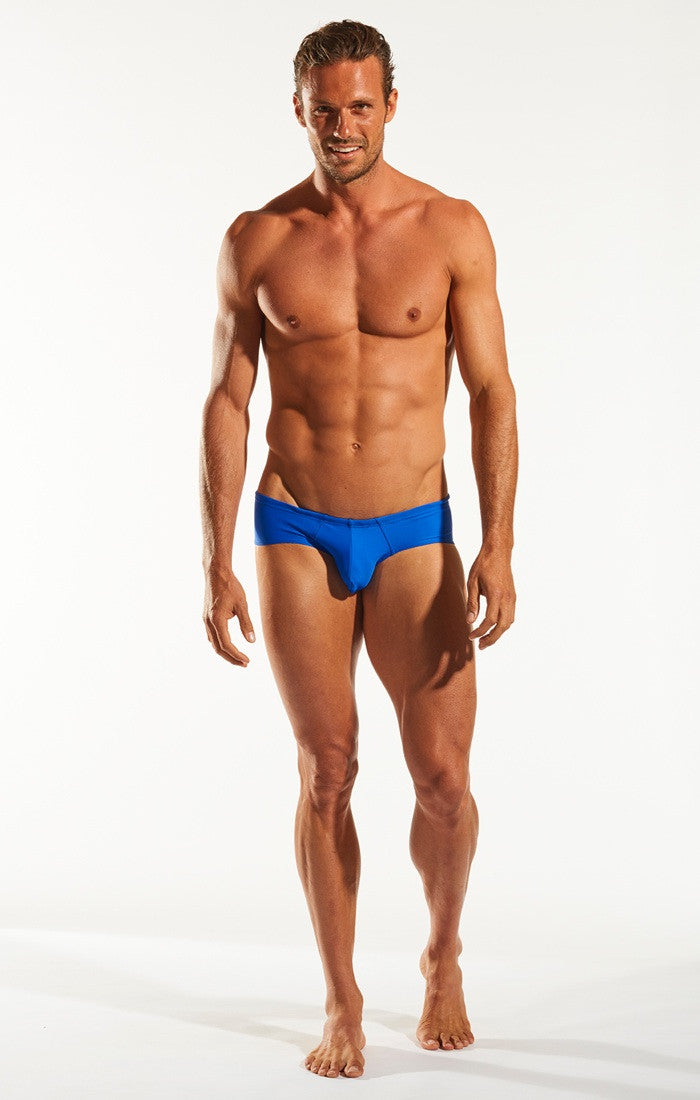 Cocksox CX79 Boy Leg Swim Brief in Galactic Blue full body image