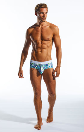 Cocksox CX79WB Swimwear Brief  in Freshballs print full body image