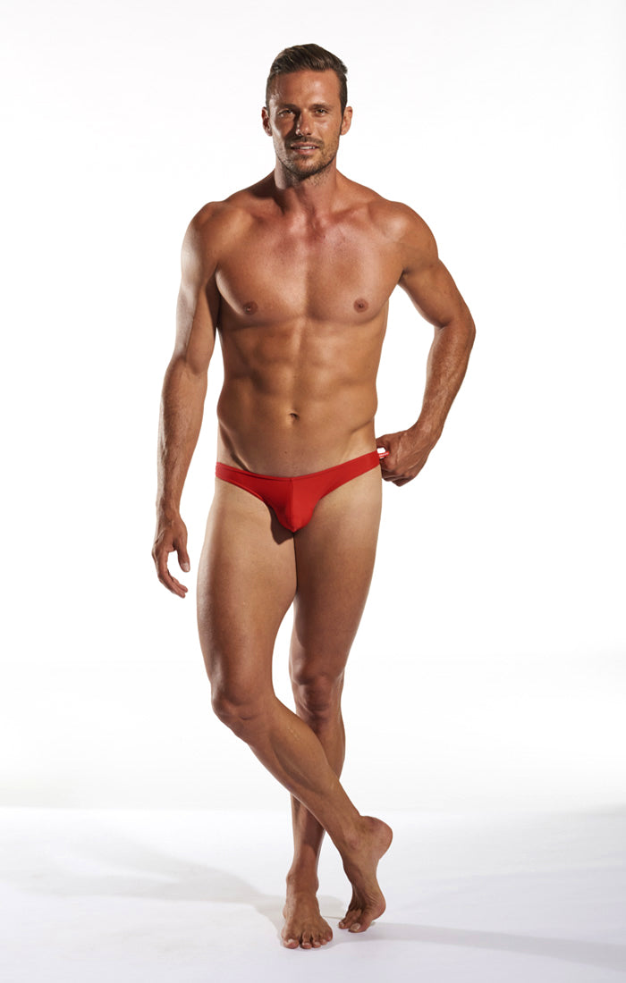 Cocksox CX02 Swimwear Brief in Code Red full body image