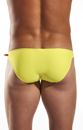 Cocksox CX02 Swimwear Brief in Reef Gold back body image