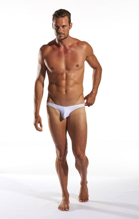 Cocksox CX02 Swimwear Brief in White Pointer full body image