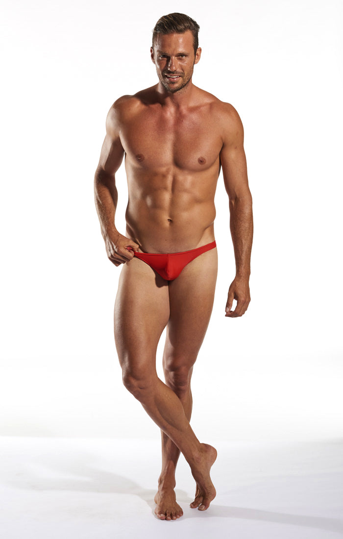 Cocksox CX22 Swimwear Thong in Code Red full body image