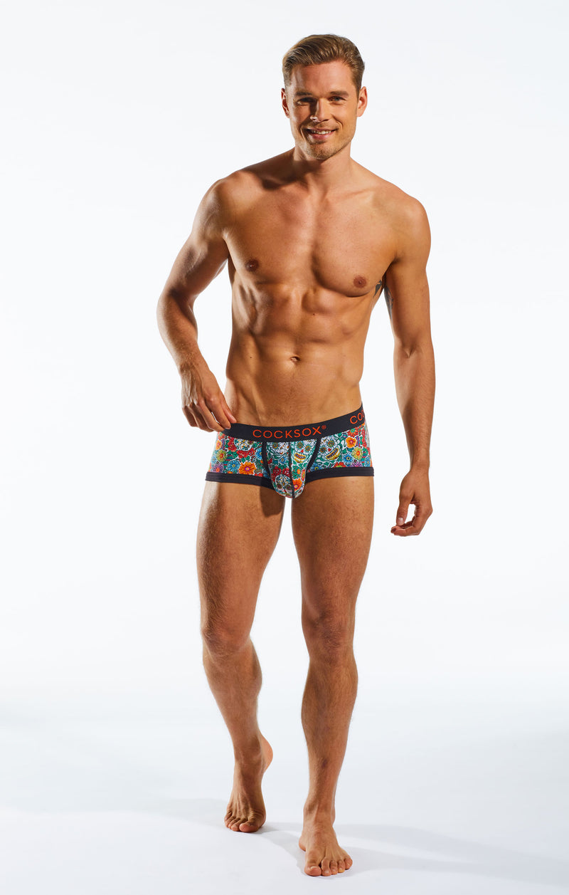 Cocksox CX68DD Underwear Trunk in Calavera full body image