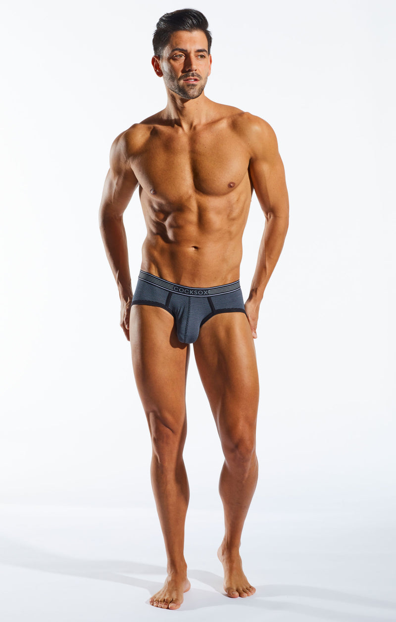 Cocksox CX76PRO Underwear Sports Brief in Banker full body image