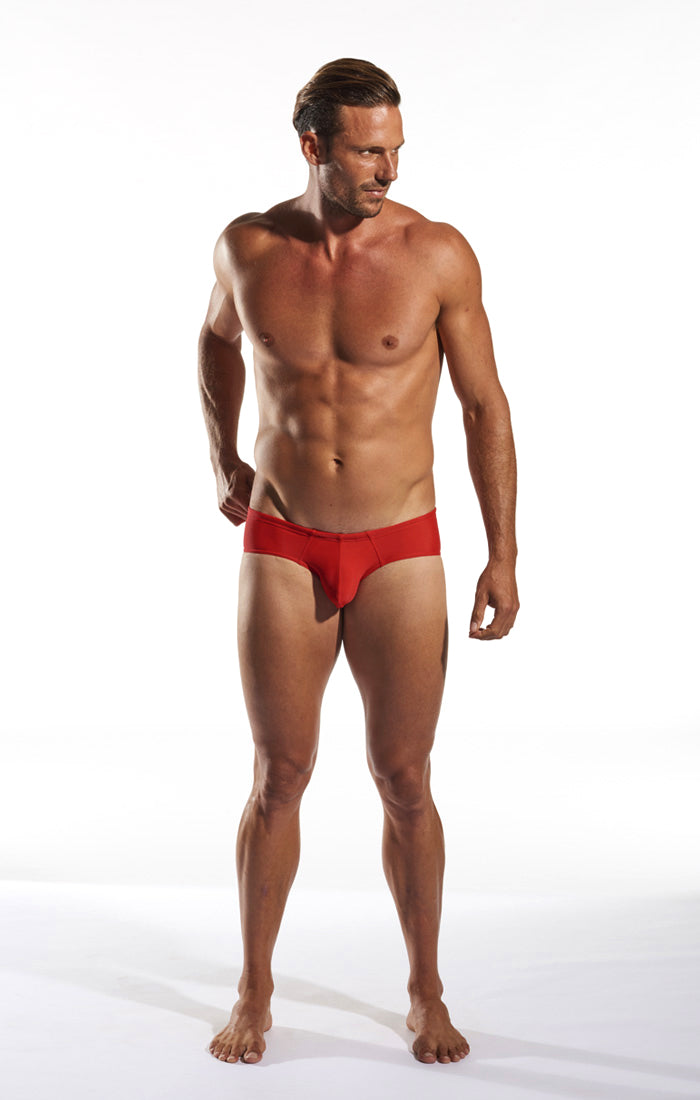 Cocksox CX79 Boy Leg Swim Brief in Code Red full body image
