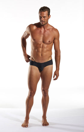 Cocksox CX79 Boy Leg Swim Brief in Jet Black full body image