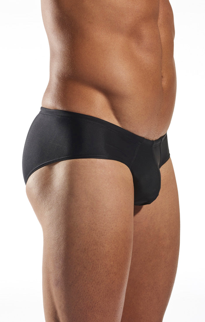 Cocksox CX79 Boy Leg Swim Brief in Jet Black side body image