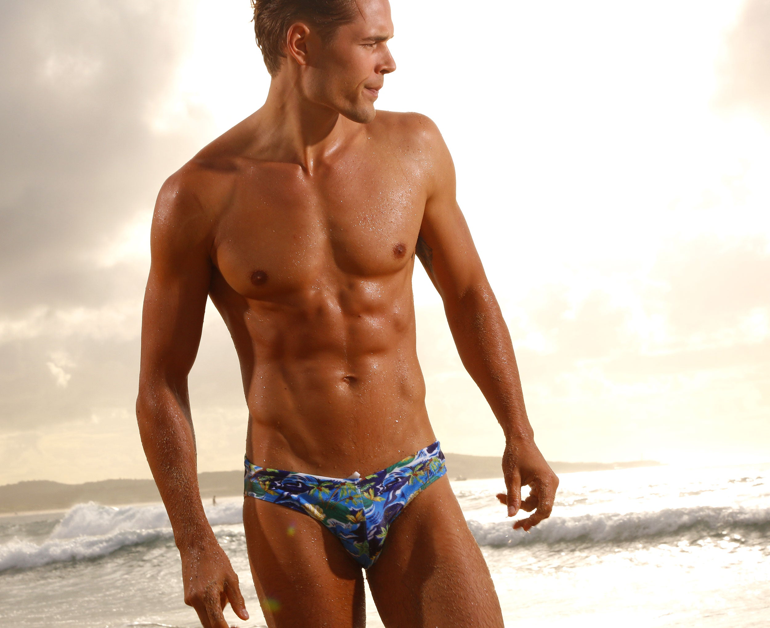CX06PR Drawstring Swim Brief