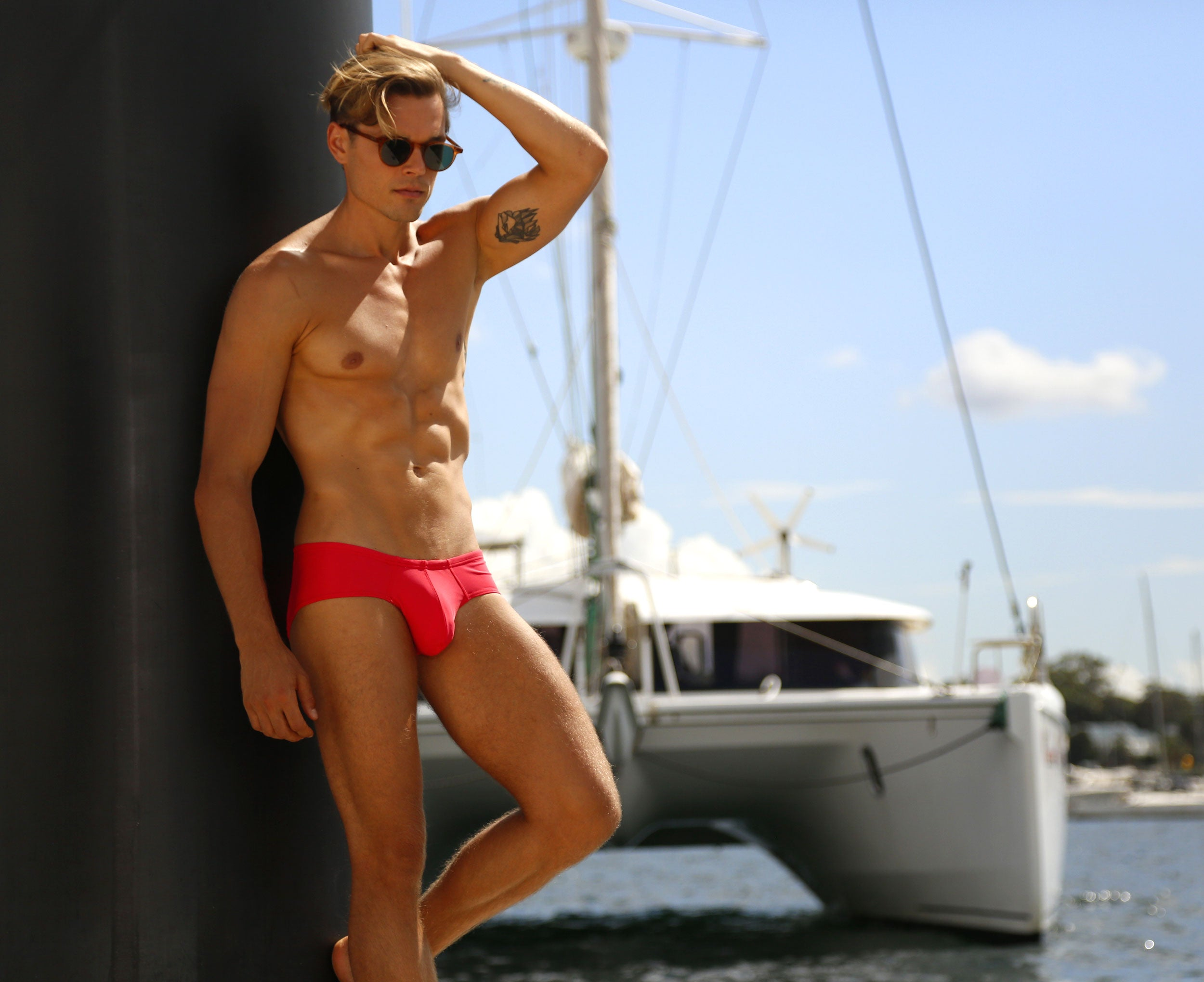 CX79 Boy Leg Swim Brief