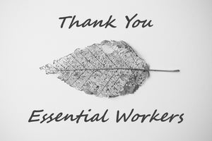 BW Thank You Essential Workers Greeting Card