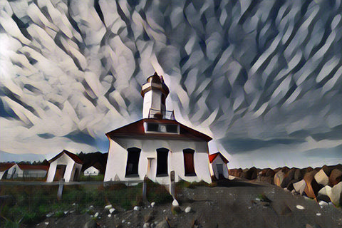 """Lighthouse Sky"" Digital Art"