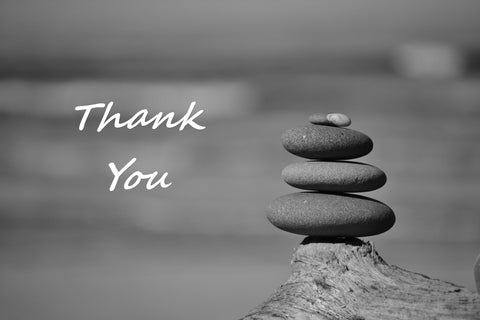 BW Thank You Greeting Card