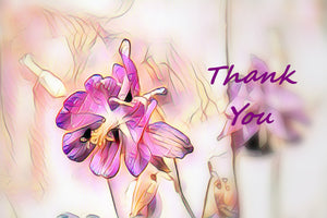 Thank You Digital Art Greeting Card