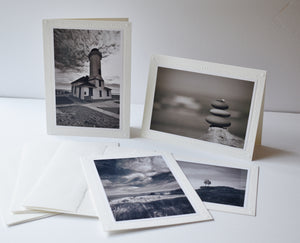 Black and White Greeting Card Set of 4