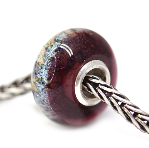 Earthy - Berry purple collection - European bracelet bead