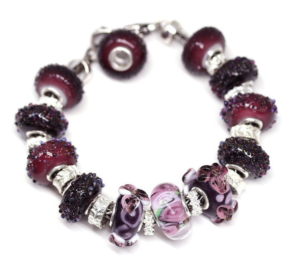 Light jam - Berry purple collection - European bracelet bead