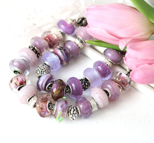 Frosted drops - Mauve garden collection