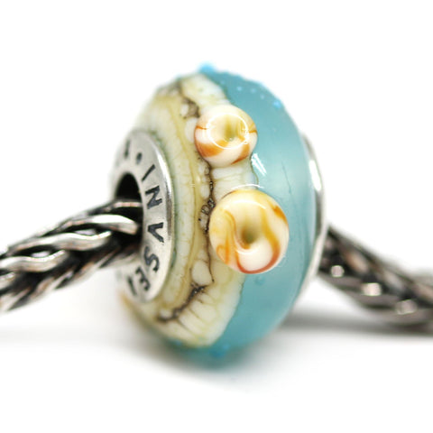 Blue beach collection of European bracelet beads for Pandora Troll