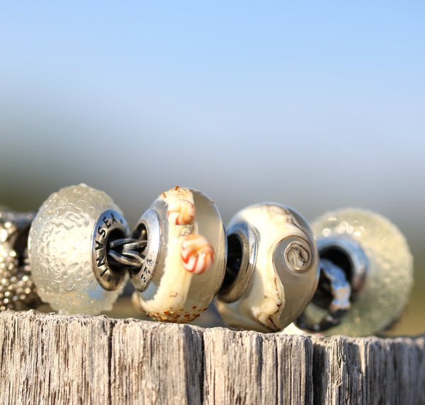 Sandy beach collection of European bracelet beads for Pandora Troll