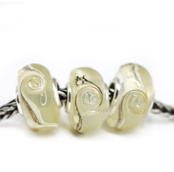 Yellow sand beach collection of European bracelet beads for Pandora Troll