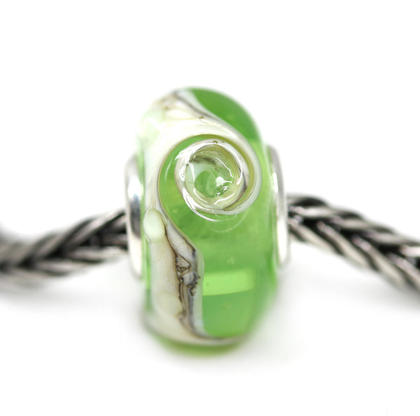 Green beach European bracelet charm beads for Pandora Troll INVSea