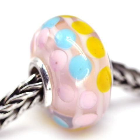 Universal core pink European style bracelet charm beads Murano glass