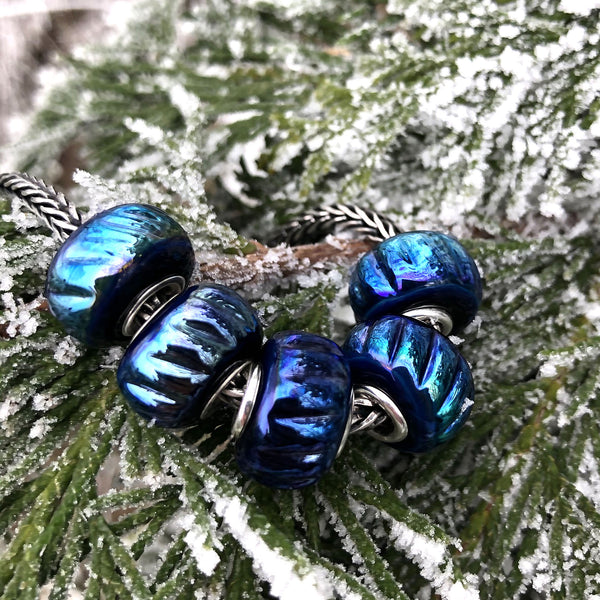 Pandora style bracelet charms Aurora lights Murano glass beads INVSea