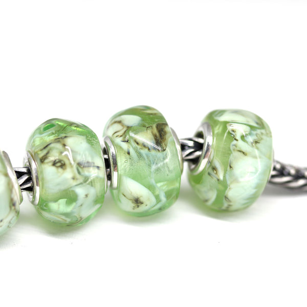 Antique green European style bead for interchangeable bracelets INVSea