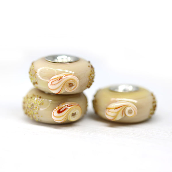 Nude beige beach jewelry European bracelet bead with seashells