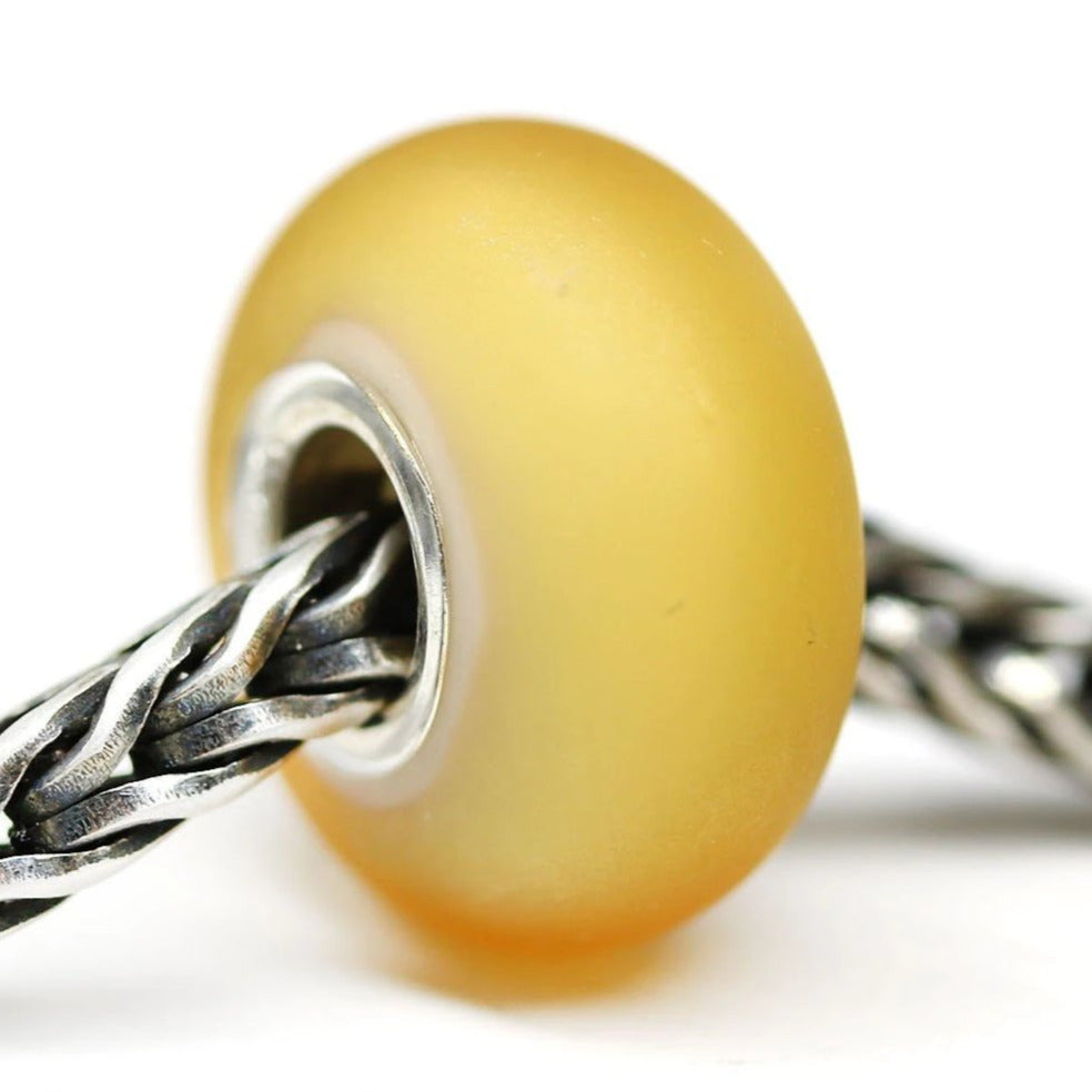 Frosted seaglass yellow European bracelet charm for women casual outfits