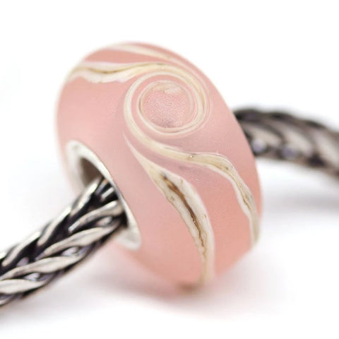 Frosted pink wave European bracelet bead
