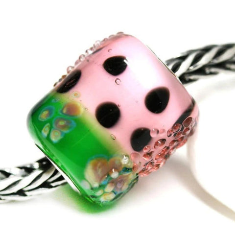 Watermelon fruit jewelry Pandora style European style lampwork bead