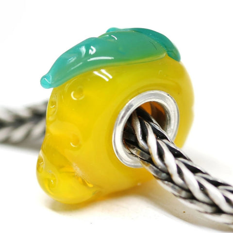 Lemon fruit European bracelet bead Vegan jewelry by INVSea