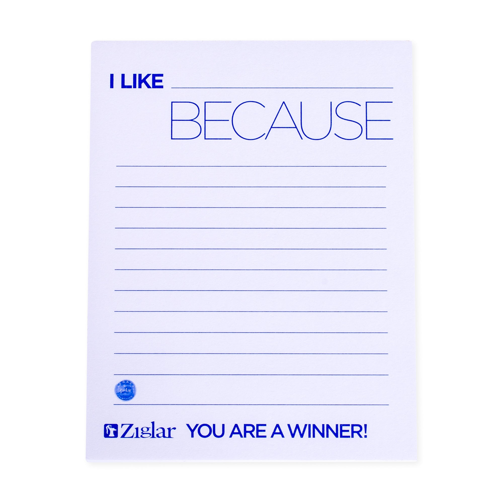 """I Like…Because"" Cards"