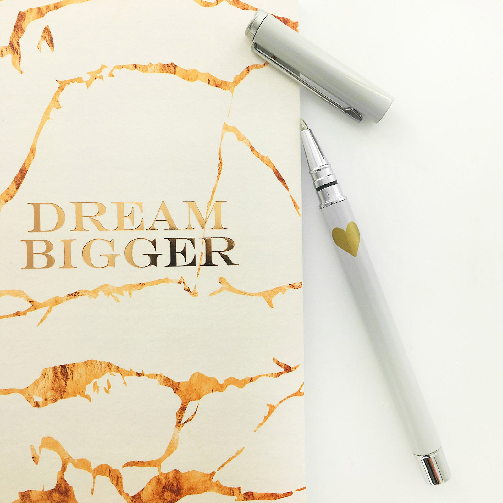 Notebook And Metal Pen Set - Dream Bigger