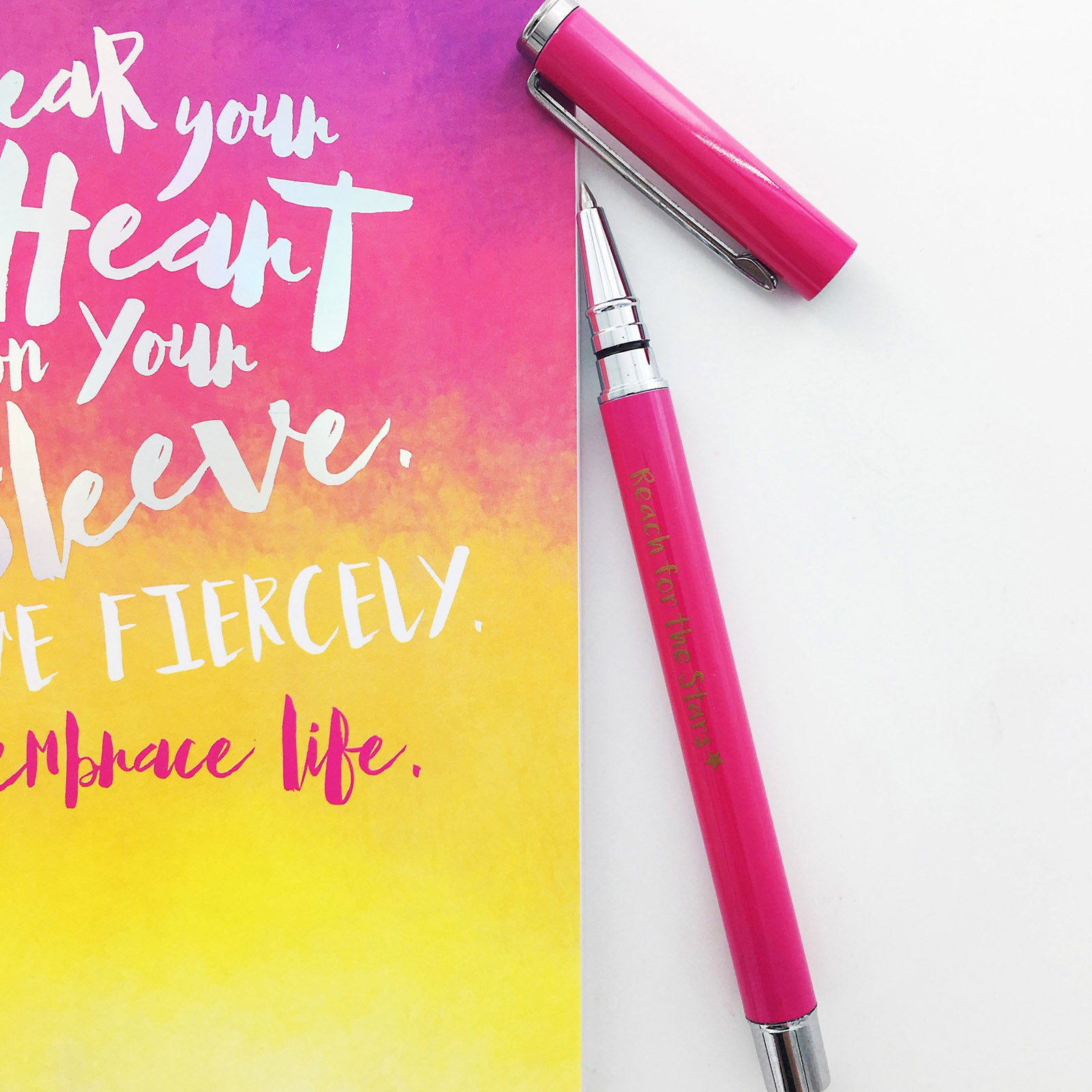 Notebook And Metal Pen Set - Wear Your Heart