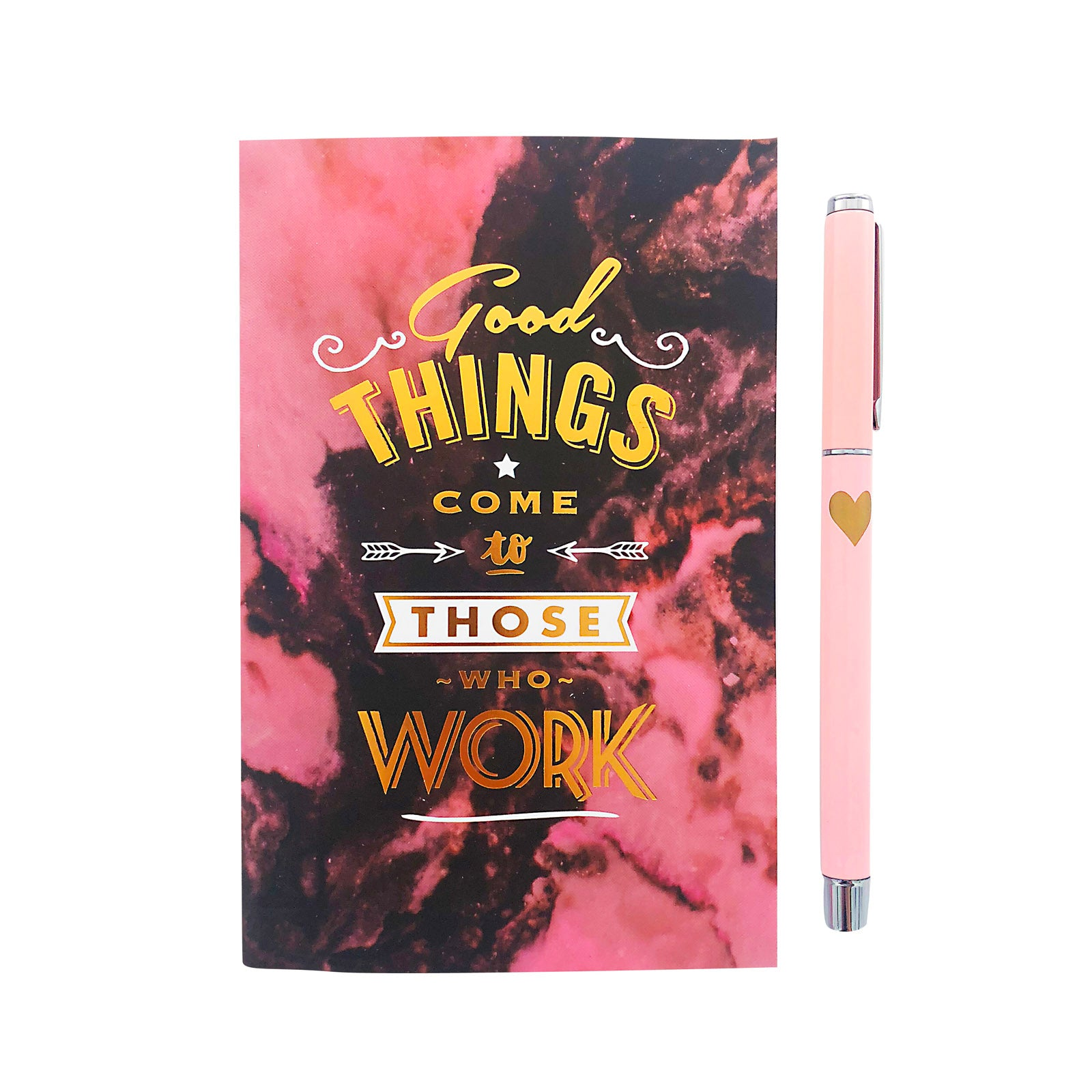 Notebook And Metal Pen Set - Good Things Come