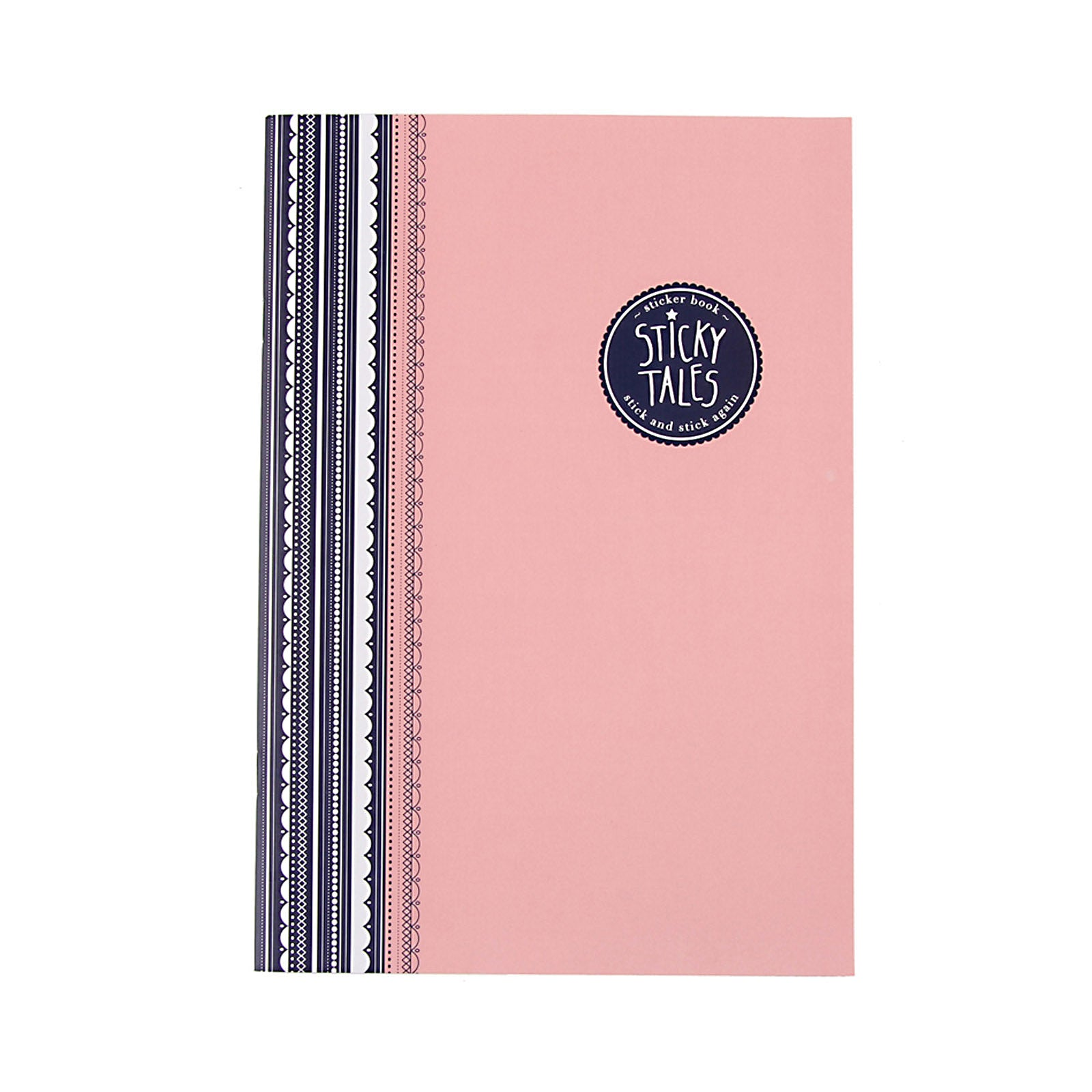 Sticky Tales Set - Pink Ornate Border Sticker Book With 3 Sticker Packs