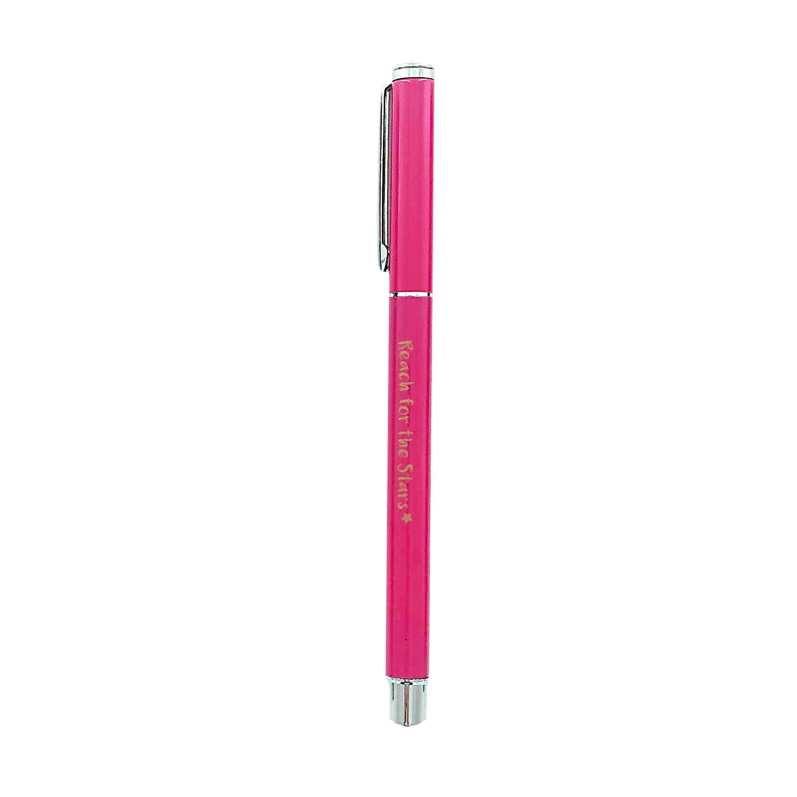 Metal Pen - Reach For The Stars - Hot Pink