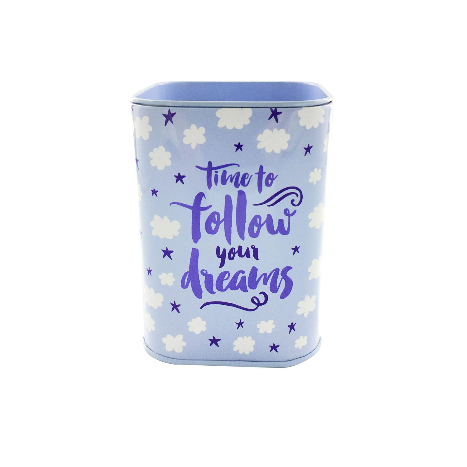 Savings Coin Tins - Follow Your Dreams Clouds