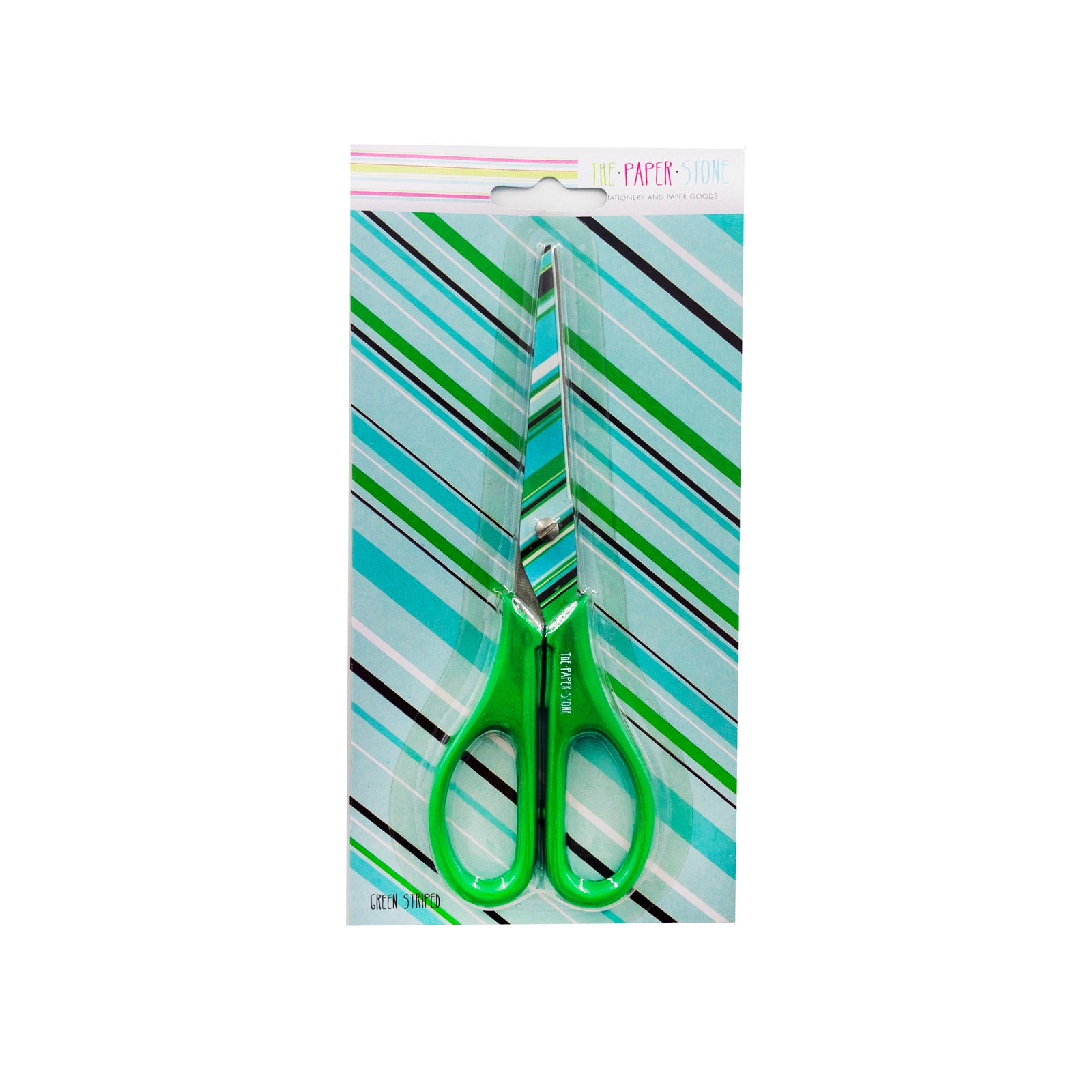 Scissors - Green Stripes - Green