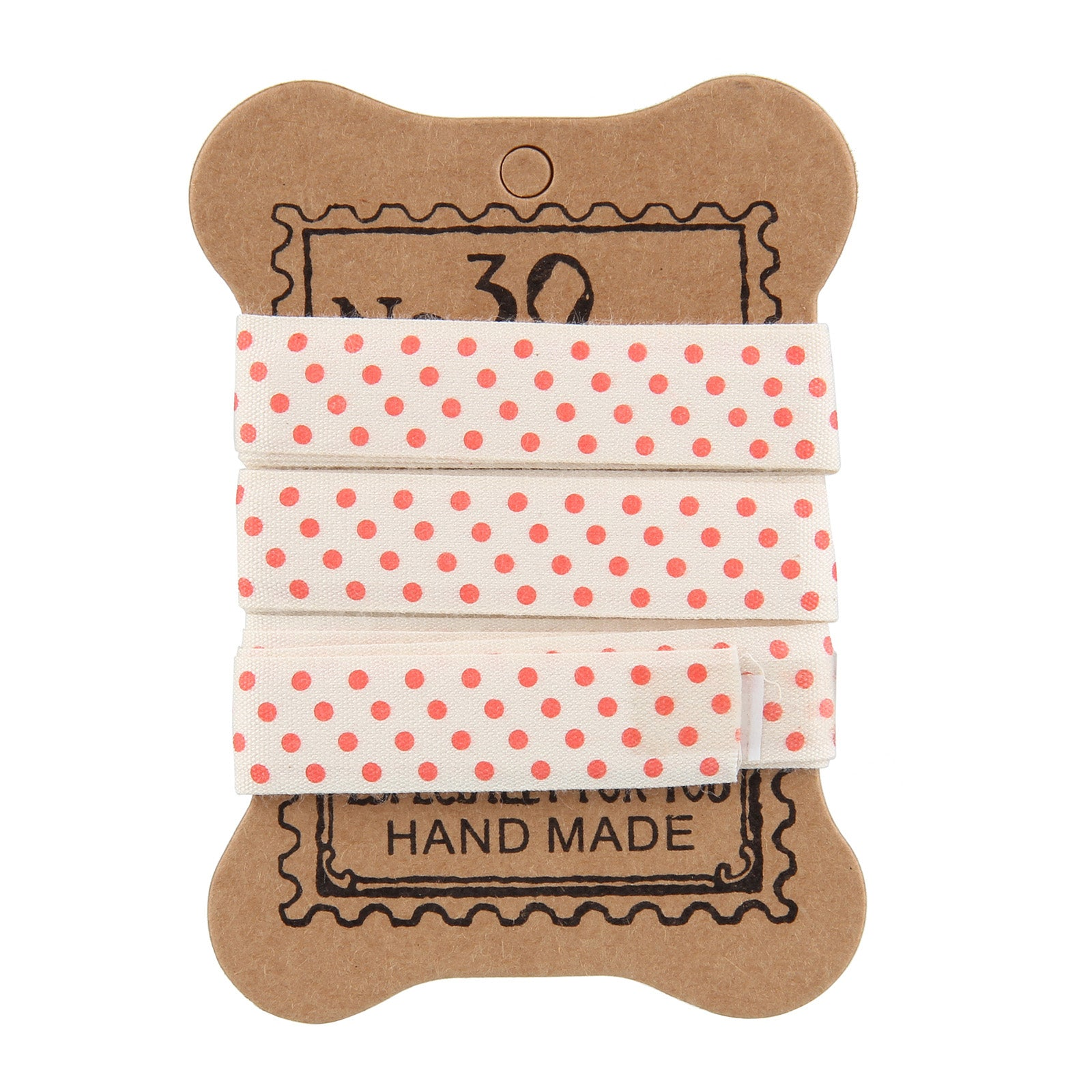 Fabric Tape - Red Polka Dots