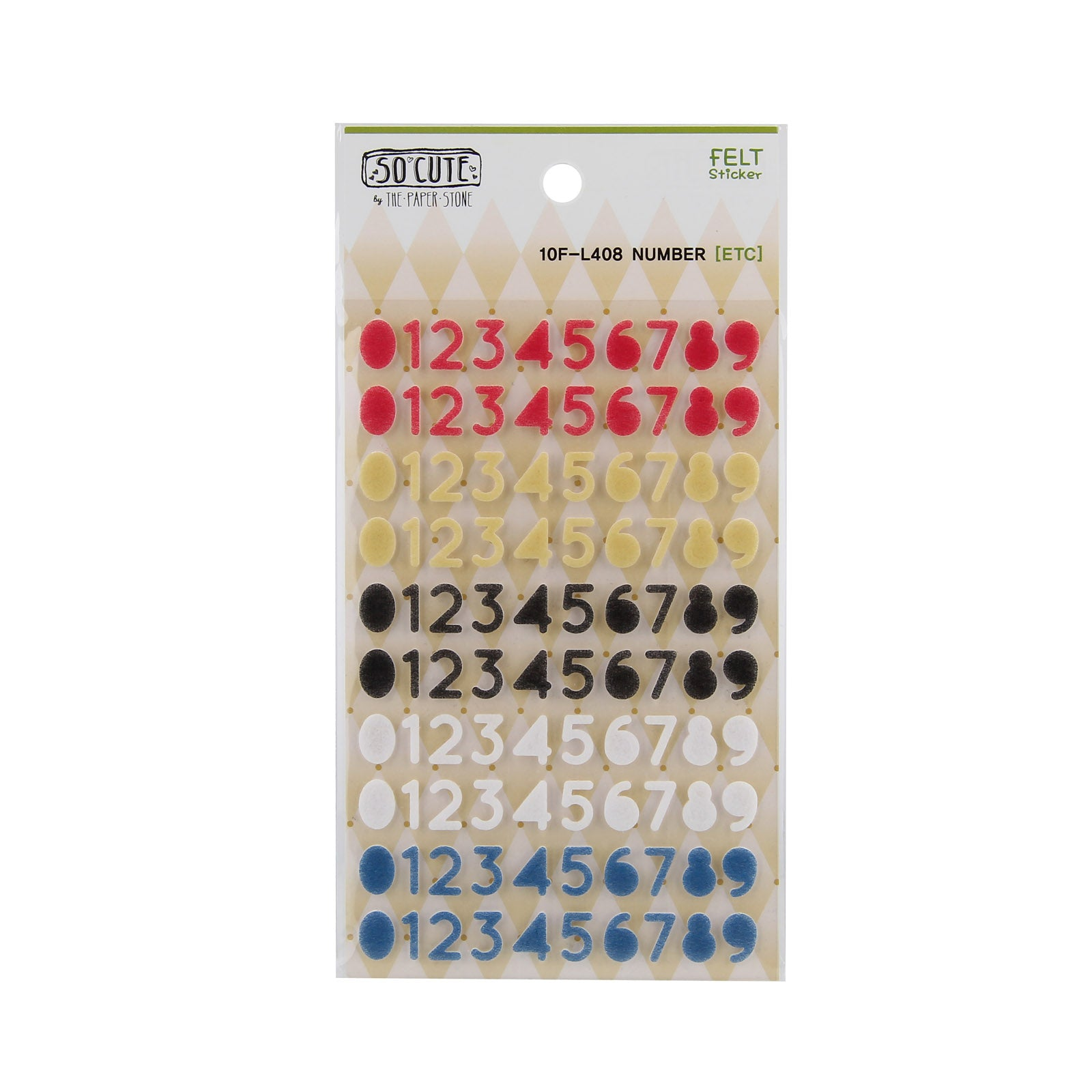 So-Cute Stickers - Felt Numbers