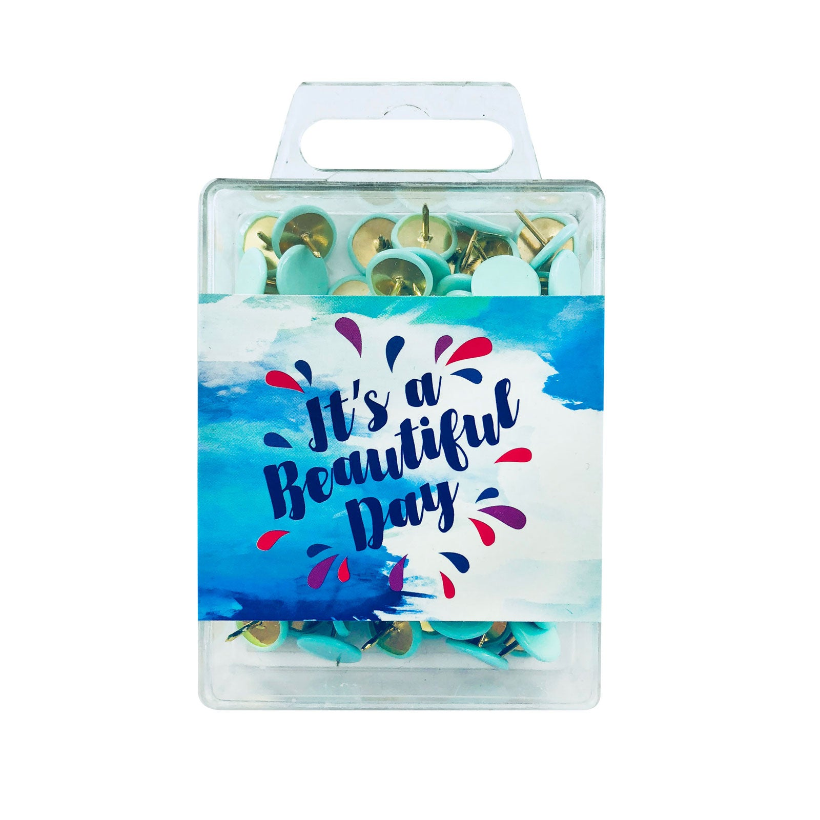 Inspirational Colour Pins - Beautiful Day Blue